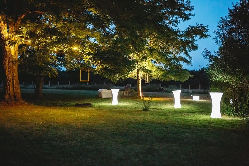 éclairage nuit champs